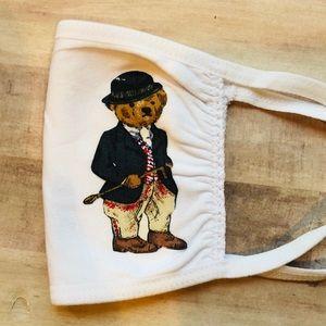 Polo Bear Ralph Lauren Face Mask Authentic Vintage